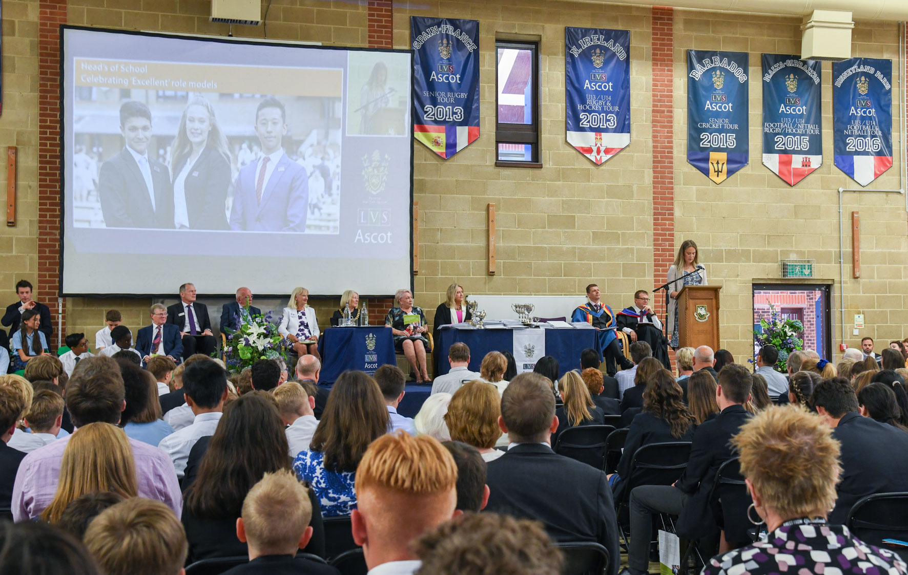 08.07.19. LVS Ascot's outgoing Head Girl Megan Du Toit gives her leaving speech at President's Day