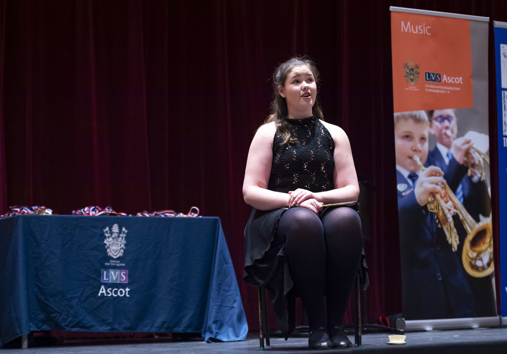 girl performs on stage at the lvs ascot music festival