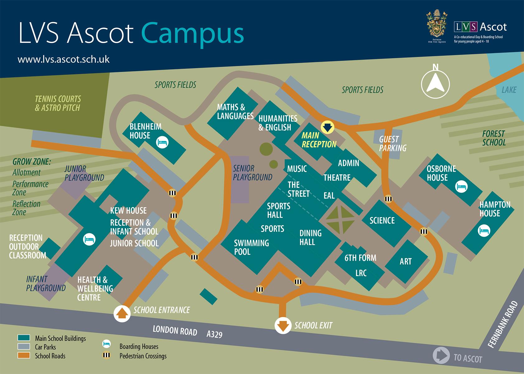 LVS Ascot Campus Map