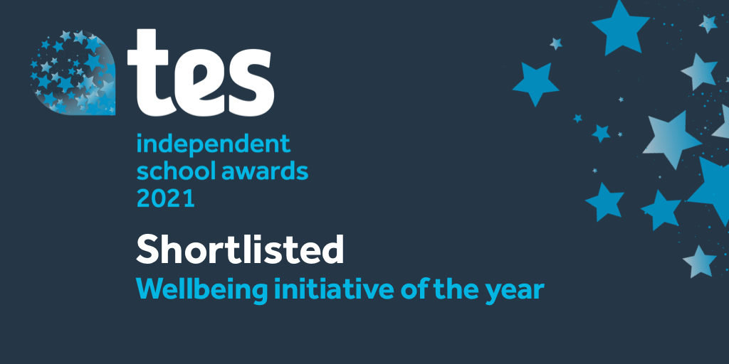 Badge for TES Awards, shortlisted for wellbeing initiative of the year